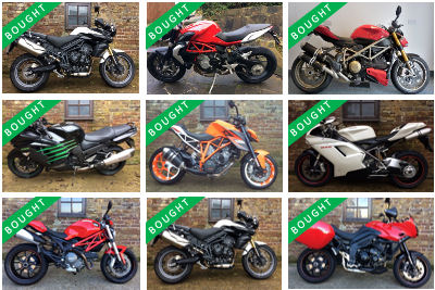 We will buy your motorbike / motorcycle using a simple, three step process